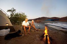 Boat-in campsite on Lake Havasu, Arizona