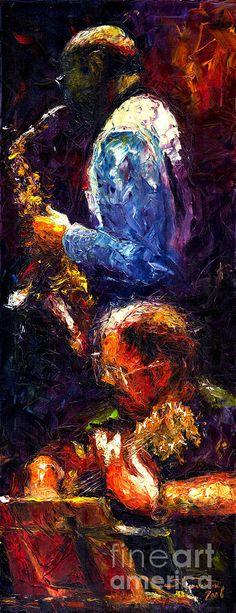 Jazz Duet by Yuriy Shevchuk Jazz Artists, Jazz Musicians, Music Artists, Jazz Painting, Music Wallpaper, African American Art, Art Design, Art Pages, Musical