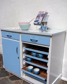 1950's Vintage Kitchen Cabinet Baby Blue Formica by emmalovesxxx  #1950s #kitchen #formica #cupboard #babyblue