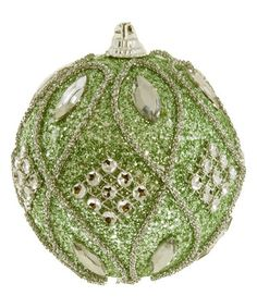 Mint Green & White Jewels Ball Ornament - Set of Six #zulily #zulilyfinds