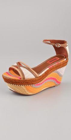 Missoni coral wave One Band Platform sandal
