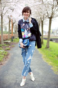 Jeans & Denim shirt Acne | Style Scrapbook on Spritzi.com | Spritzi, fashion and beauty blogs news in real time #mode #blogueuse #fashion