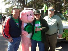 Pinky and Frank.  Tybee St. Patricks Day Parade.
