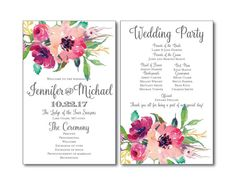 Hey, I found this really awesome Etsy listing at https://www.etsy.com/listing/269051179/rustic-wedding-program-country-chic