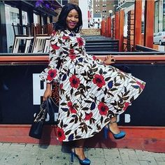 African Maxi Dress Styles 2018 : Elegant African Maxi Dresses CollectionLatest Ankara Styles and Aso Ebi Styles 2020 Ankara Skirt And Blouse, African Maxi Dresses, Ankara Dress, African Attire, African Wear, African Style, Ankara Wedding Styles, Trendy Ankara Styles, Long Dress Design