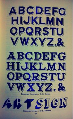 Alphabet for hand-painted signs: I wanted this reference to try to capture some of the shapes of vintage hand-painted signs for my typography project.