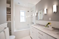 Langley Avenue - transitional - Bathroom - Toronto - Timothy Johnson Design