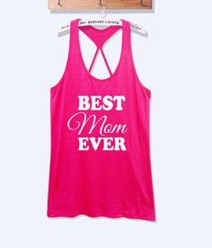 Best mom ever fitness #workout tank top with print -687
