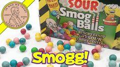 Toxic Waste Sour Smog Balls Candy, Dr Sauernoggin Helps!  #ToxicWasteSourCandy #SourSmogBalls #DrSauernoggin