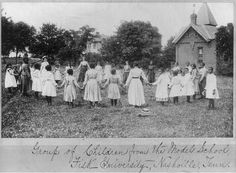 Group of Children from the Model School, Fisk University, Nashville Tenn.