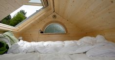 The skylight in the sleeping loft OPENS! Oh my. I'm in love. little tiny house 006 Little Tiny House on Wheels: Freedom by Living Simply