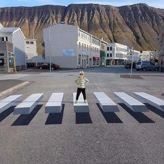 Le 1er passage piétons en 3D se trouve en Islande