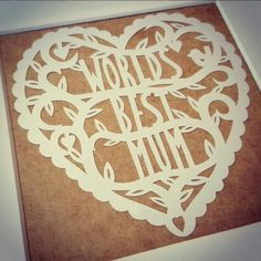 Mother's day 💗 Template by papercut perfection gloriously cut by Knick Nats Paper Cutting, Templates, Day, Stencils, Western Food