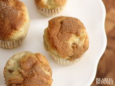 Easy Gluten + Dairy Free Banana Nut Muffins {Beard and Bonnet}