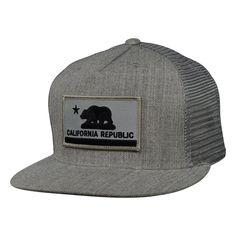 California Republic Flag Trucker Hat by LET S BE IRIE - Heather Gray b7b194f4b880