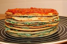 Ricotta and spinach lasagna (made with crepes)
