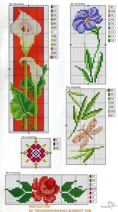 Cross Stitch Boards, Cross Stitch Bookmarks, Beaded Cross Stitch, Cross Stitch Rose, Cross Stitch Flowers, Cross Stitch Embroidery, Embroidery Patterns, Cross Stitch Designs, Cross Stitch Patterns
