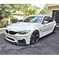 2015 BMW M3 Front engine, RWD, 5 passenger, 4 door sedan. MSRP: $62,000 Engine: 3.0 Inline V6 Twin Turbo Power: 425 hp @ 7300 rpm Torque: 406 lb-ft @ 1850rpm Transmission: 7 speed dual-clutch automatic with manual shifting mode Curb Weight: 3613 lbs 0-60: 3.8 seconds 1/4th mile: 12.0 sec @ 119mph Top Speed: 163mph (governor limited) Braking: 70-0 153ft Skidpad: 0.99g #bmw #m4 #german Follow us for daily specs of the worlds best performance cars!