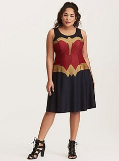 Her Universe Wonder Woman Reversible Skater Dress, MULTI