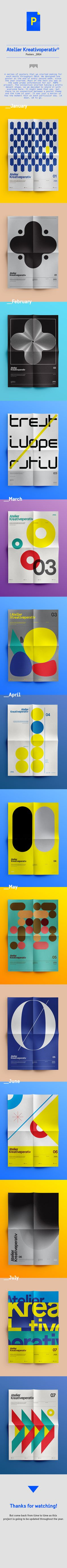 Kreativoperativ® / A Year in Posters. by Marko Vuleta-Djukanov, via Behance