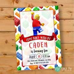 "25 NOT LEGO Building Brick Block Design 11/"" T Cellophane Party Loot Treat Bags"