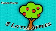 5 Little Apples | finger play song for children