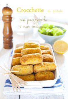 Crocchette di patate con prezzemolo e noce moscata