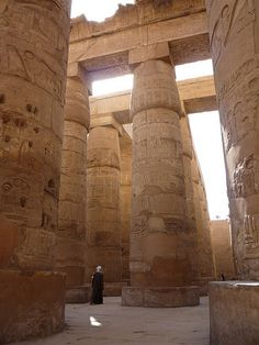 LUXOR (THEBES), EGYPT - Temple of Karnak - Hypostyle Hall/ ЛУКСОР (ФИВЫ), ЕГИПЕТ - Карнакский Храм - Гипостильный зал