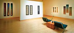 Exhibition of Rebecca Bluestone's work at Gerald Peters Gallery, Santa Fe, tapestry