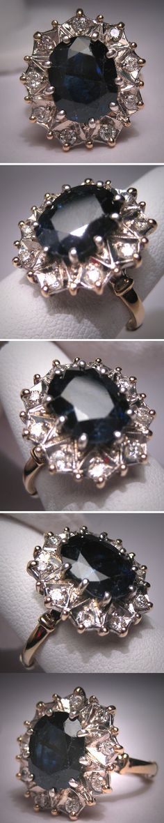 I have 2 (1larger 1smaller) family heirlooms very similar to this   #diamonds & #sapphire #love it!
