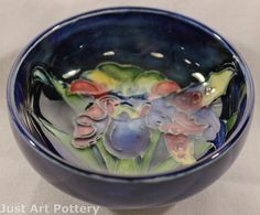 Moorcroft Pottery Orchid 1928-35 Bowl from Just Art Pottery