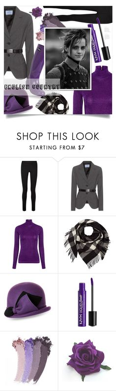"""""""New Trend - Something Purple!"""" by ames-ym ❤ liked on Polyvore featuring The Row, Prada, Carven, Burberry, Kathy Jeanne, Charlotte Russe, Gucci, Roma, Emma Watson and country"""