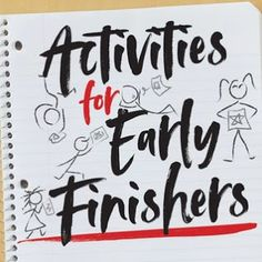 Art Room Blog: Early Finishers...