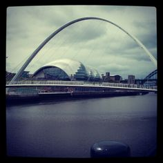 Gateshead Bridge & Sage from the Newcastle quayside.