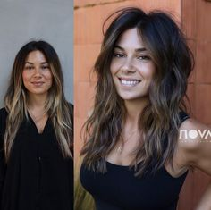 36 Shag Haircut Examples To Suit All Tastes Shag Haircut For Dark Hair Long HairstyleWould you like to experiment with your hair? Choose a beautiful shag haircut and feel the most confident.Haircut Ideas For Long Hair Perfectly Suits To Every Texture Brown Hair With Highlights, Brown Hair Colors, Caramel Highlights, Hair Color And Cut, Blonde Highlights, Medium Hair Styles, Curly Hair Styles, Hair Cut Styles, Long Shag Haircut