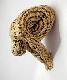 Adrian Arleo - Small Dormant Honeycomb Figure