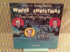 Rare Vinyl Record LP - Selections from Irving Berlin's White Christmas Bing Crosby Danny Kaye Peggy Lee by VinylJunction on Etsy https://www.etsy.com/listing/259510067/rare-vinyl-record-lp-selections-from