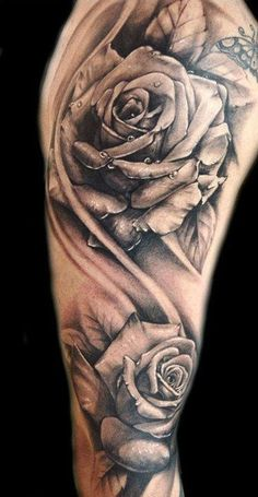 While most people do not apprehend how authoritative rose tattoos can be, rose tattoo designs are actually the most celebrated among teens. Rose flowers are not as feminine as most people might think. Rose is… Tattoo Arm Frau Rosen, Rosen Tattoo Mann, Rosen Tattoos, Rose Tattoos For Men, Tattoos For Women, Tattoos For Guys, Black Rose Tattoo For Men, Tattoo Black, White Tattoos