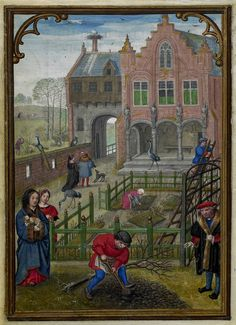 March 1 - Hennessy Book of Hours - miniaturist: Simon Benning - Flanders, 1530-1540 - Bruxelles, Bibliothèque royale Albert Ier, ms. II 158