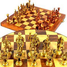 Royal Brass Chess Set