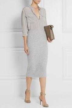 Joseph Brushed-cashmere midi skirt