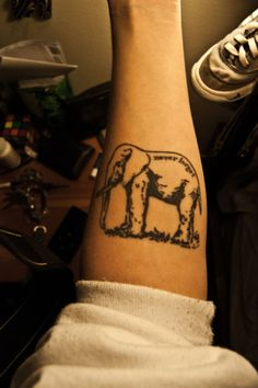 Oh wow!!! Elephants are so symbolic to me. They remind me of my daddy who had quite the obsession with them. haha This picture makes me so happy.....Best tattoo ever~