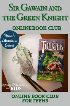 This online literary guide has everything you need to study the book. This course includes vocabulary, grammar, discussion questions, rabbit trails, and a writing project. It is perfect for a month of high school level literature. In this course, we will read through the book Sir Gawain and the Green Knight translated by J.R.R. Tolkien. As we are reading, we will go on rabbit trails of discovery and we will find ways to learn by experiencing parts of the book through hands-on activities. Online Book Club, Online Books For Kids, Kids Online, Books Online, British Literature, Classic Literature, Children's Literature, Teaching Literature, Homeschool High School
