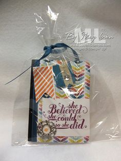Sycamore Street Sale-A-Bration DSP and the Feel Goods stamp set on a sweet little notebook project