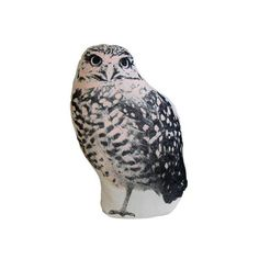 Owl Mini Cushion By Areaware ($30) ❤ liked on Polyvore featuring home, home decor, throw pillows, pillows, graphic throw pillows, owl home accessories, areaware, owl home decor and owl throw pillow