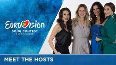 Catarina Furtado, Daniela Ruah, Filomena Cautela and Sílvia Alberto will host the 2018 Eurovision Song Contest in Lisbon. Daniela Ruah, Eurovision Songs, Portugal, Music, Lisbon, Musica, Musik, Muziek, Music Activities