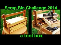 A Toolbox: Scrap Bin Challenge 2014 (Cued from a Traditional Japanese Woodworking Toolbox) - YouTube