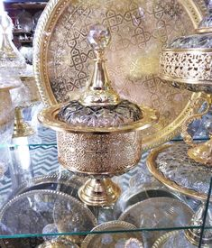 Wall Light Fixtures, Wall Sconces, Flush Lighting, Candy Bowl, Brass Lamp, Gold Paint, Lamp Design, Moroccan, Decorative Boxes
