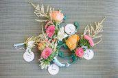 color combo: neutrals + peach, coral, pink, aqua
