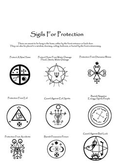 Sigils for Protection www.psychickerilyn.com www.facebook.com/Psychic.Kerilyn